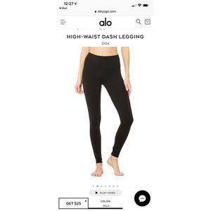 Alo Yoga High Waist Dash Legging size XS